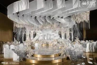 温馨浪漫的白色+香槟金色系婚礼