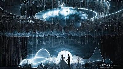 犹如隐秘仙境一般的梦幻婚礼