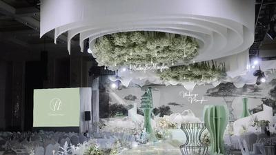 流水设计感的江南风新中式婚礼