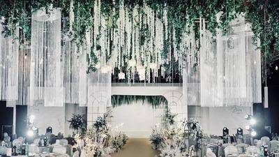 简约现代的白绿色韩式婚礼