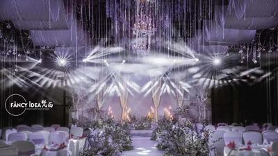 浪漫的薰衣草紫色系婚礼