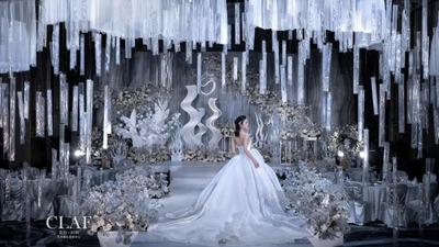 低调却闪耀的银色系婚礼