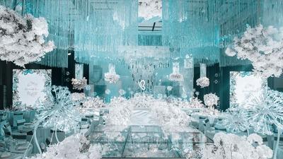 高雅柔美的湖蓝色+白色系婚礼