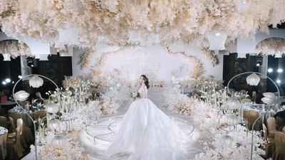 时尚简洁的铃兰花主题婚礼