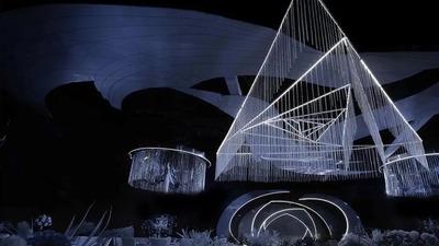 空间设计感十足的蓝白色系婚礼
