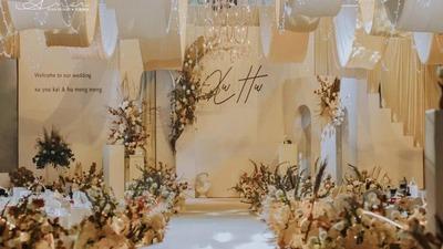 温柔恬静的香槟色系婚礼