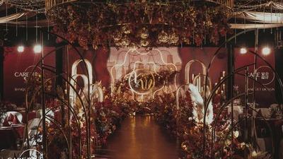 浪漫唯美的红金色系婚礼