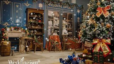 克莱因蓝与莫奈灰相融合,一场以圣诞为主题的婚礼