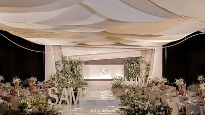 充满线条感设计的现代简约风婚礼