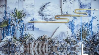 以青花瓷为灵感 打造新中式美学婚礼