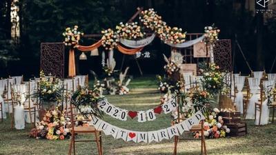 独特又精致的秋日复古风婚礼