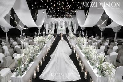 白绿色韩式婚礼案例