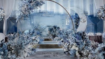 蓝白色新中式婚礼
