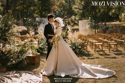 极简风草坪婚礼