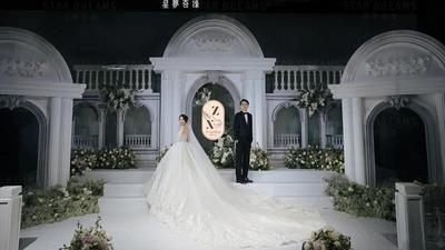 色调恬静淡雅的法式庄园风婚礼