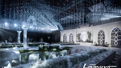 浪漫且精致的法式情怀水晶主题婚礼