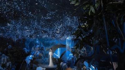 充满了梦幻森林气息的奇幻风秘境婚礼
