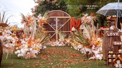 自然、怀旧、带着质朴纯真色彩的美式风格婚礼