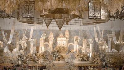 高级感满满的香槟金欧式城堡童话婚礼