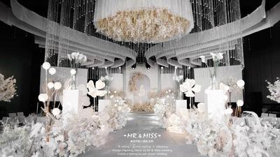 通透,高级,干净、简约的纯色+暖色系韩式婚礼