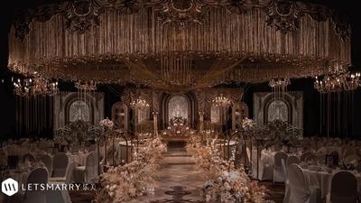 乐美婚礼:极致奢华的鎏金色巴洛克风婚礼,具有浓郁的浪漫主义色彩