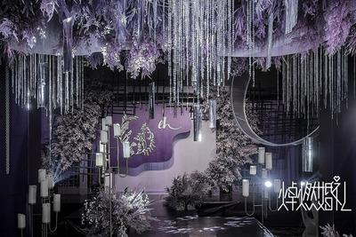 紫色系婚礼案例