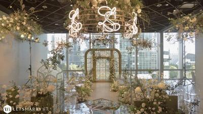 精致又自然浪漫的清新阳光房婚礼