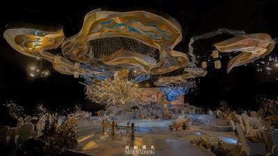 米迪婚礼:古典元素与现代艺术相结合,带你进入那仙气十足的国风婚礼