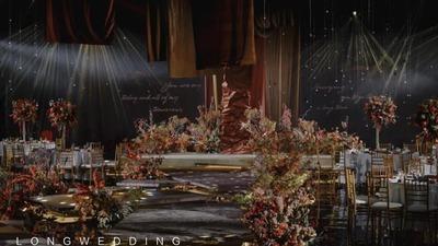 用丝绒材质营造出立体感和空间感的梦境婚礼