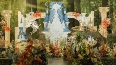 充满了神秘感的森系童话城堡主题婚礼