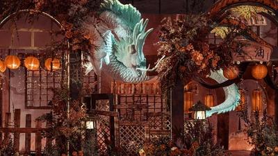 现实与童话相交汇的千与千寻主题婚礼