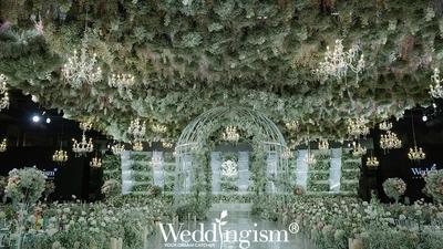 """Weddingism婚礼主义:自然的松霜绿碰撞上高贵的古铜金,一场仙气朦胧的秘境""""花漾""""婚礼"""