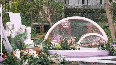 让艺术色彩与原始自然相得益彰的紫色系婚礼