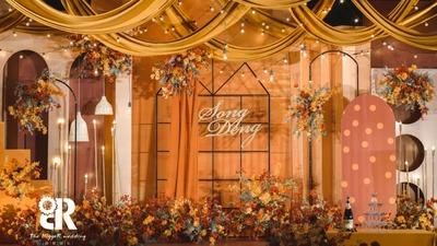 一场复古而温暖的高级感秋色系婚礼
