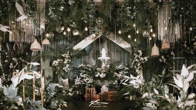 自然纯粹有质感的静谧森系婚礼