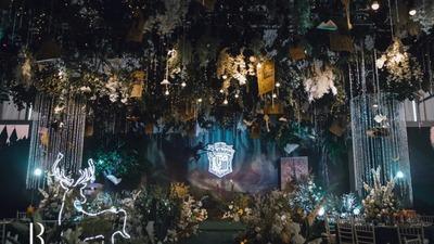哈利波特黑暗魔法主题的森系婚礼