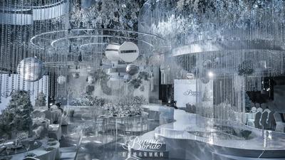 清浅的花艺和细腻灵动的设计,让这场婚礼极尽优雅浪漫