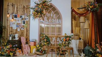 一场以秋天为灵感的田园风原木色系婚礼