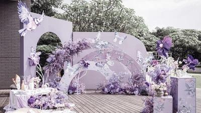 温婉柔韵的丁香紫色系蝴蝶主题婚礼