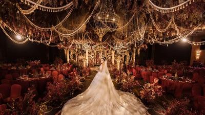 将古典元素和时尚元素相结合的欧式宫廷风婚礼