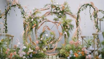 自然清丽春色十足的户外婚礼