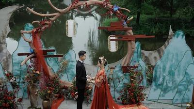 体现了江南雅致韵味的意境式中式婚礼