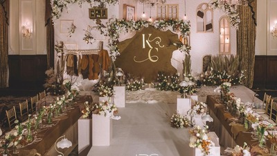 一场随意又不失美感的市集主题婚礼