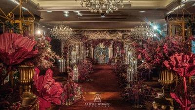 红金色系欧式复古宫廷风主题婚礼