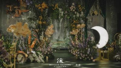 寂静灵动又梦幻的爱丽丝仙境主题婚礼