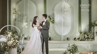 清爽牛油果绿与简单白相搭配的优雅轻奢感婚礼