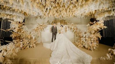 以香槟色为主色调的轻奢时尚感婚礼
