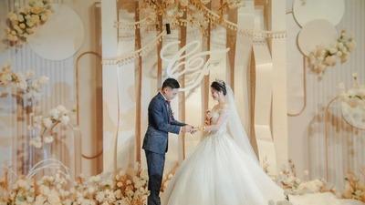 自然柔美且温馨浪漫的香槟色系婚礼