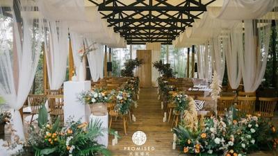 既温馨独特又淳朴优雅的暖色调户外婚礼
