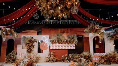 一场温暖而高级的复古风秋色系婚礼